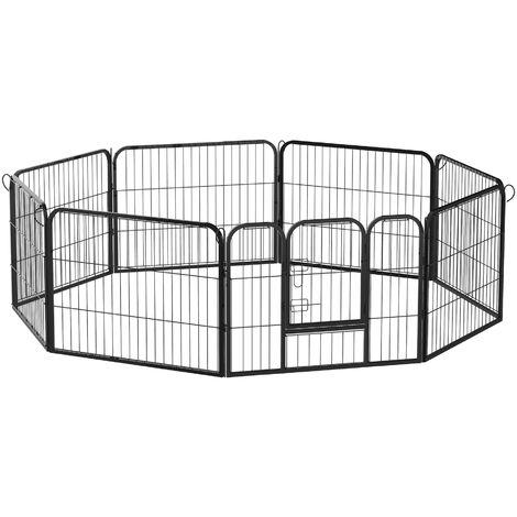 PawHut Welpenauslauf / Freilaufgehege für Kaninchen und Kleintiere 80x80 cm