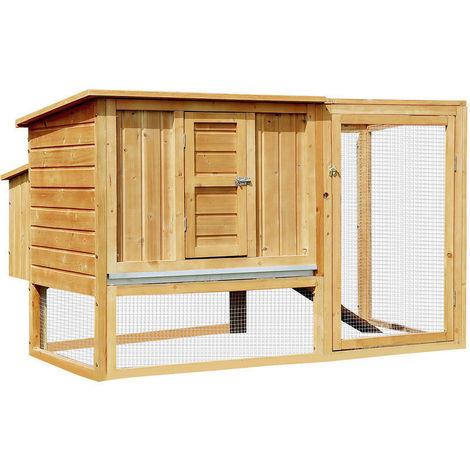 Backyard Poultry Supplies Humorous Chicken Coop Hen House Poultry Rabbit Hutch/chicken Run Durable Service