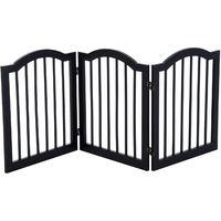 PawHut Wooden Dog Gate Stepover Panel Pet Fence Folding Safety Barrier