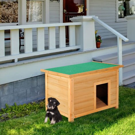 """main image of """"PawHut Wooden Dog Kennel Elevated House w/ Open Top 85W x 58D x 58H cm"""""""