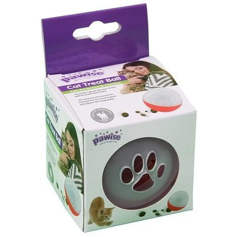 Pawise Cat Treat Ball (One Size) (Clear)