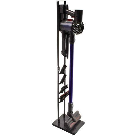 Paxanpax PFC764_16, PFC764Q Support de Sol sans Fil et Accessoires pour Dyson V11, Support d?aspirateur, Support en métal, sans perçage sur Le Mur, Gris foncé