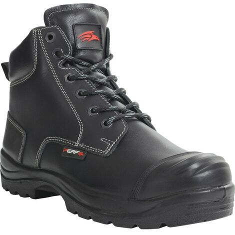 PB10C Black Derby Safety Boots