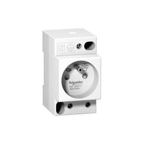 Schneider A9A15306 Prise de courant modulaire 16A 2P+T standard français 250V