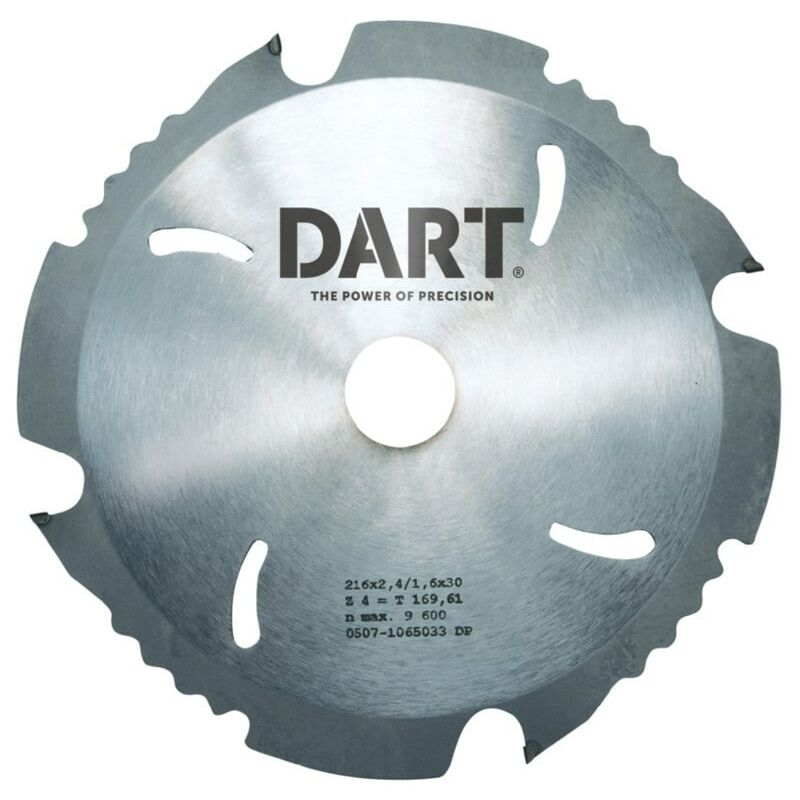 Image of Dart PCD185164 PCD Fibre Cement Saw Blade 185DMMX16BX4Z