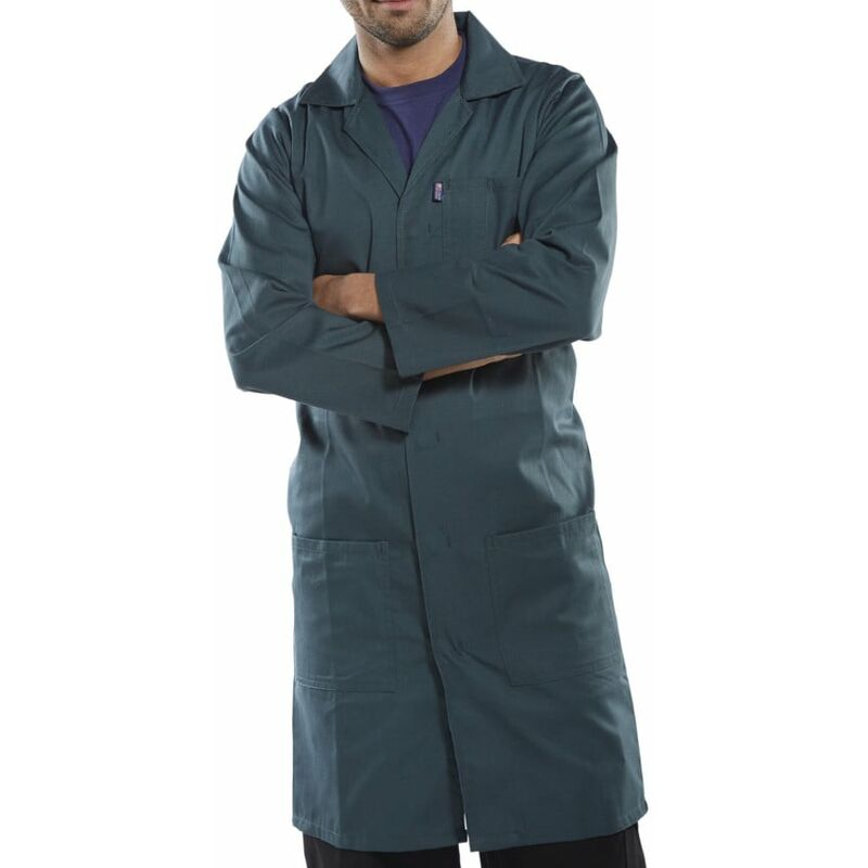 Image of Beeswift Click Original Workwear PCWC Men's Polycotton Spruce Green Warehouse Co