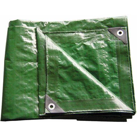 1,5x6m Abdeckplane für Holzstapel Schutzplane Abdeckung grün 2x10m