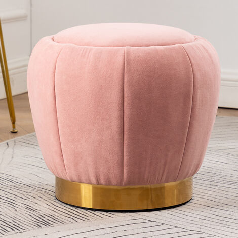 Peach Shape Velvet Footstool