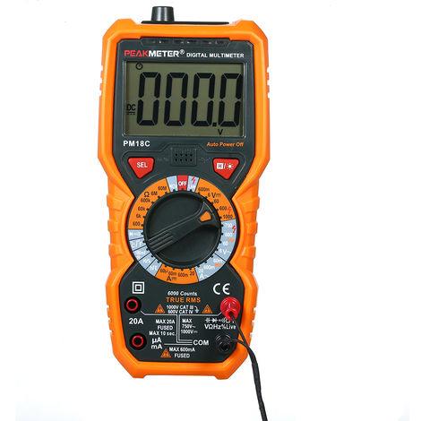 PEAKMETER PM18C True RMS Multifunctional Digital Multimeter