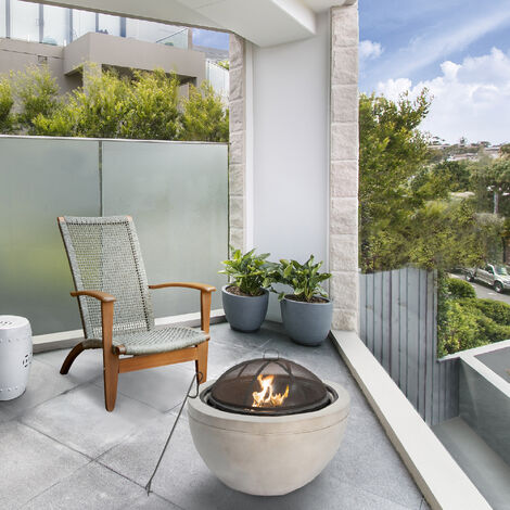 """main image of """"Peaktop Firepit Wood Burning Fire Pit Concrete Style BBQ Grill Poker HR30180AA"""""""
