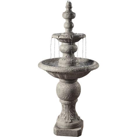 Peaktop Outdoor Garden Patio Decor Tier Water Fountain Cascade Feature VFD8179-UK