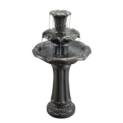 Peaktop Outdoor Garden Patio Decor Water Fountain Waterfall Feature VFD8207-UK
