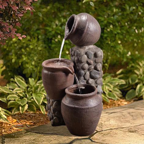 Peaktop Outdoor Garden Patio Pot Waterfall Water Fountain Feature VFD8210-UK