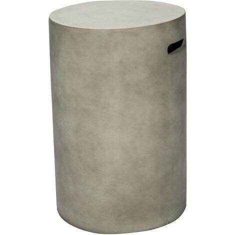 """Peaktop Outdoor Garden Patio Round Concrete 40"""" Gas Fire Pit Storage HT24170AA"""