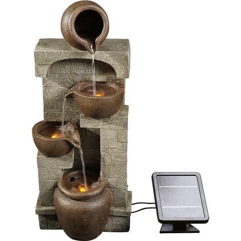 "main image of ""Peaktop Solar Power Water Fountain Garden Bronze Water Feature Ornament Lights PT-SF0001"""