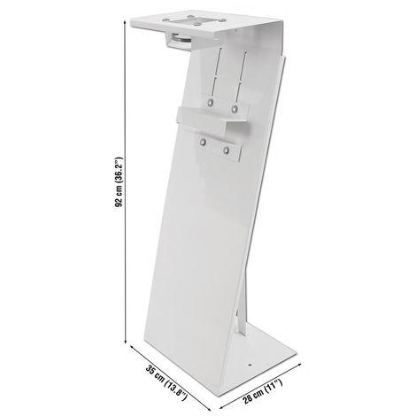 Peana dispensadora gel y guantes pie Blanca 95x35x28 SimonRack