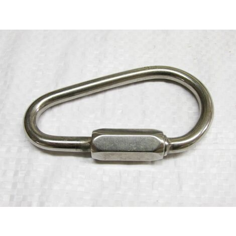 """main image of """"Pear Shaped Quick Link Stainless Steel 6MM (Chain Fastener)"""""""