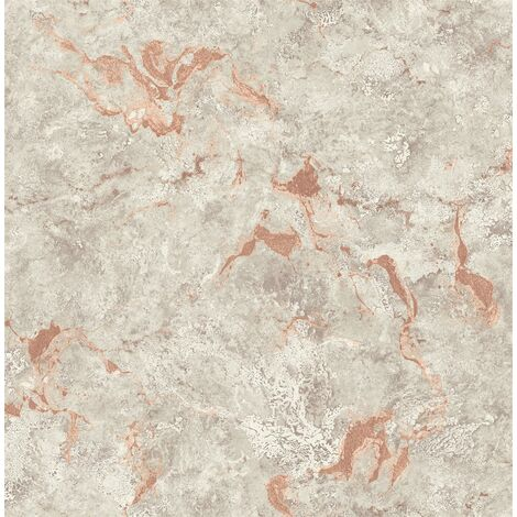 Pear Tree Rose Gold Marble Grey Copper Wallpaper Paste the Paper