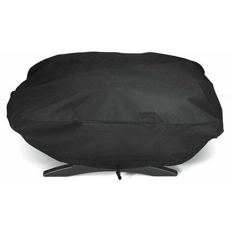 Pearl Rare Grill, Grille de chaudière, Tissu imperméable, respirant, Oxford, barbecue, couverture de protection noir