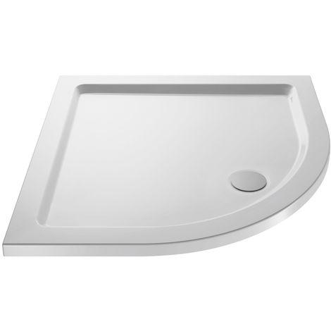 Pearlstone White Quadrant Shower Tray 800mm x 800mm x 40mm