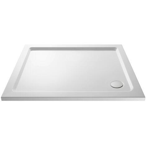 Pearlstone White Rectangular Shower Tray & Waste 1000mm x 700mm