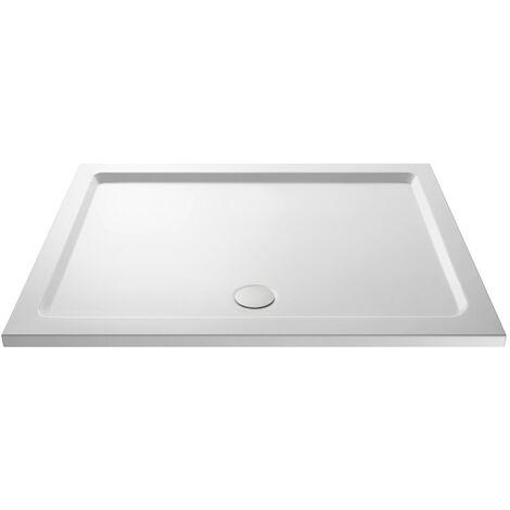 Pearlstone White Rectangular Shower Tray & Waste 1500mm x 700mm
