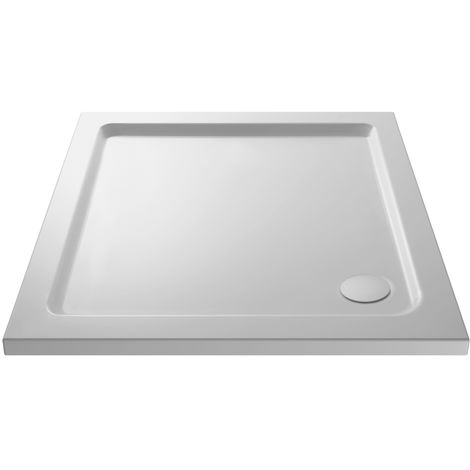 Pearlstone White Square Shower Tray 800mm x 800mm x 40mm