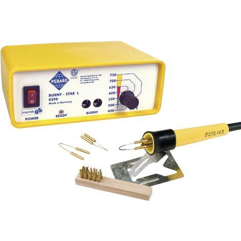 Pebaro Crayon de pyrogravure avec socle pour bois / liège / cuir