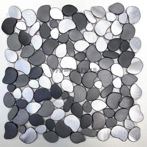 Pebble mosaic tile floor or wall walk in shower and bathroom oceo