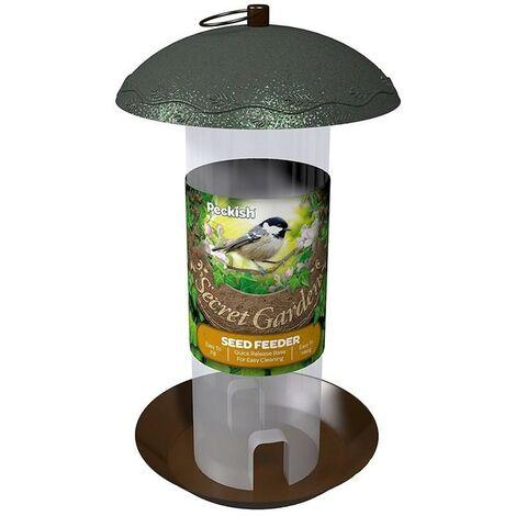 Peckish Secret Garden Decorative Metal Seed Food Wild Bird Hanging Feeder