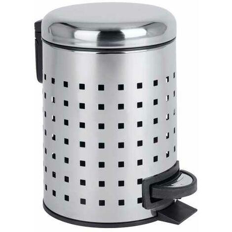 Pedal bin Leman stainless steel perforated WENKO