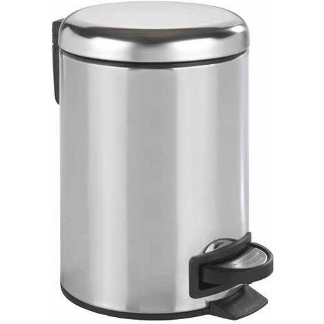 Pedal bin Leman stainless steel shiny WENKO