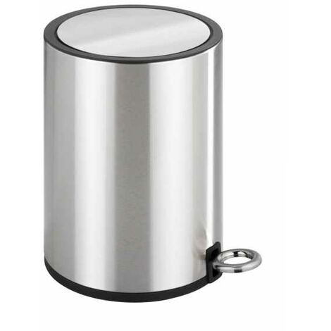 Pedal bin Monza Easy-Close stainless steel shiny WENKO