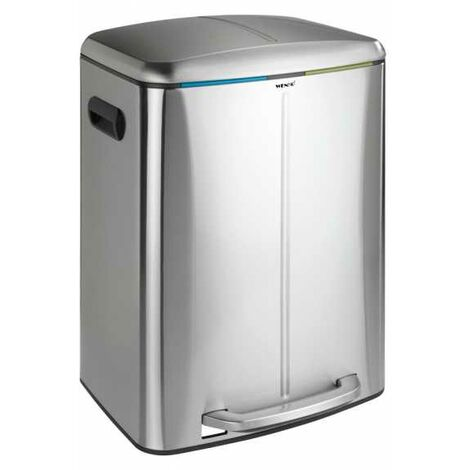 Pedal bin Primo Easy Close satinised WENKO