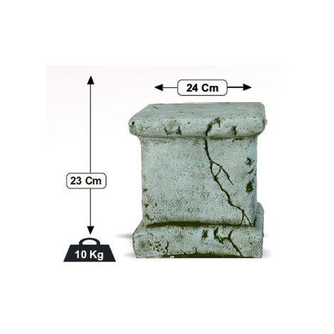 Pedestal Columna de hormigón-piedra para jardín o exterior 24x23cm.