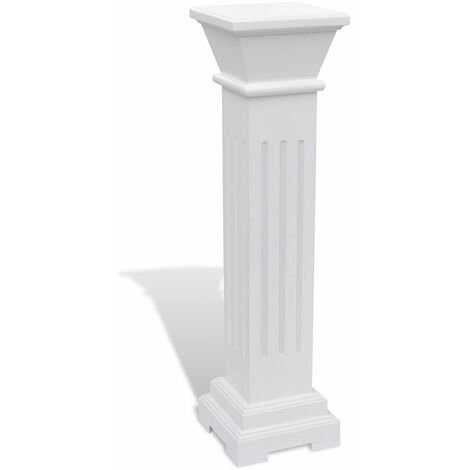 Pedestal Plant Stand White Tall Column Wooden Display Flower Side Lamp End Table