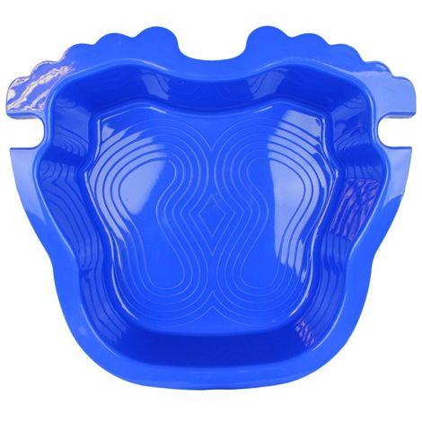 Pédiluve avec fond antidérapant et accroche échelle pour piscine hors sol - Bleu - Linxor