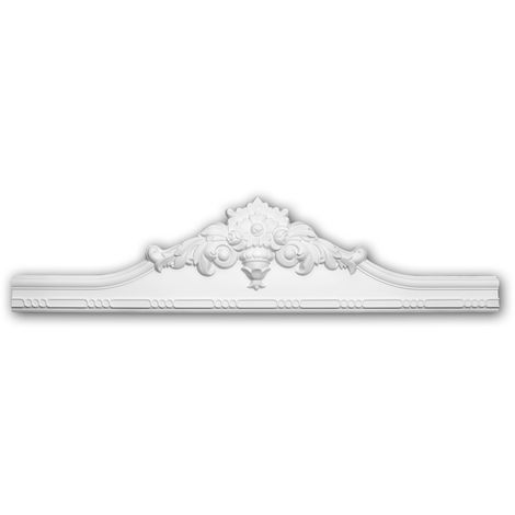 "main image of ""Pediment 154015 Profhome Door surround Decorative Element Rococo Baroque style white"""