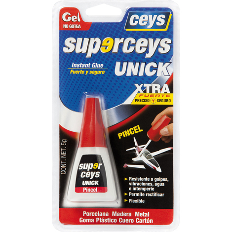 Pegamento Ciano Unick Pincel - CEYS - 504230 - 5 G