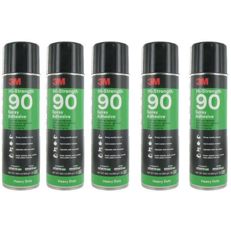 Pegamento en aerosol 3M Hi-Strength 90 de alta resistencia x5