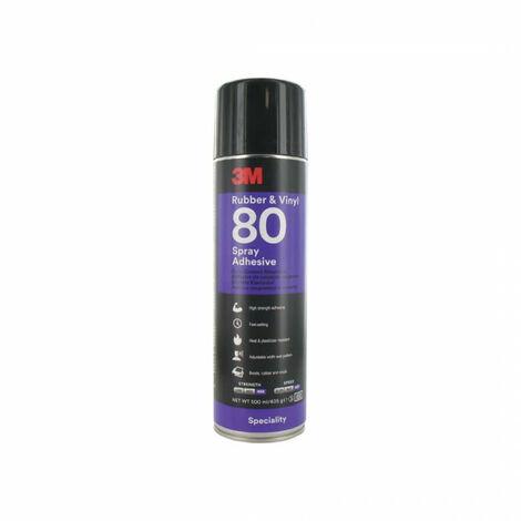 Pegamento en aerosol de caucho y vinilo 3M Hi-Strength 80