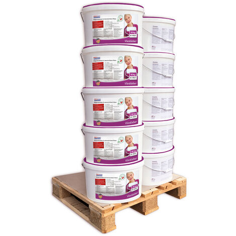 Pegamento listo para usar PROFHOME 300-13-10 adhesivo para superficies murales pegamento para no tejidos 160 kg para max. 1050 m2