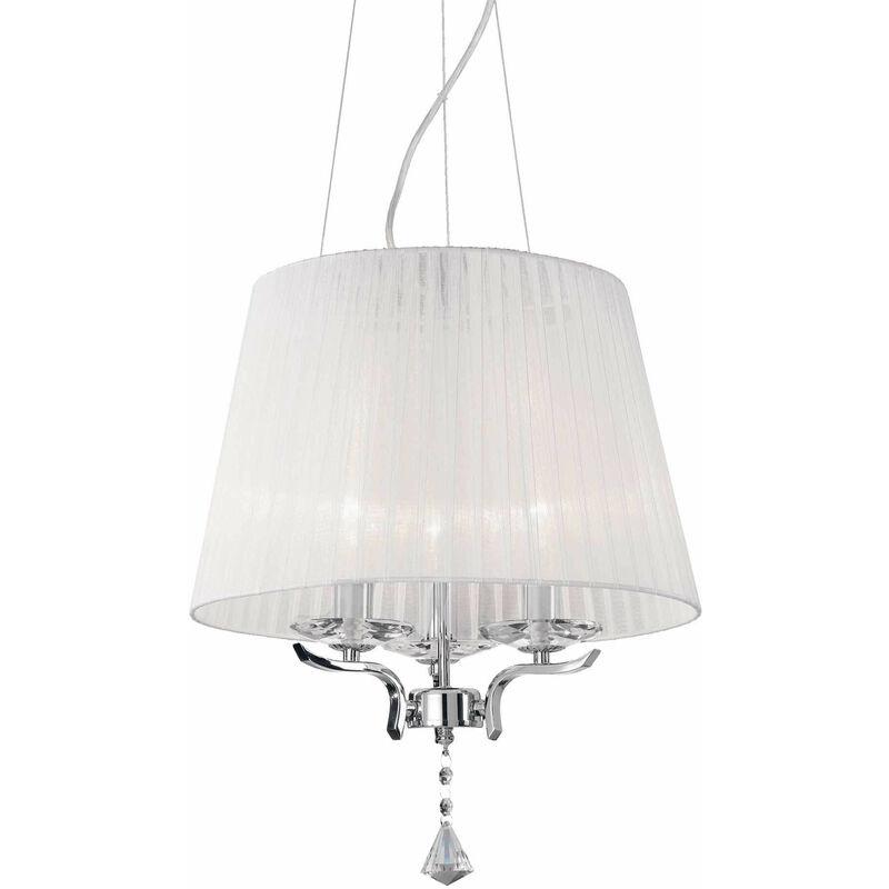 PEGASO weiße Pendelleuchte 3 Glühbirnen