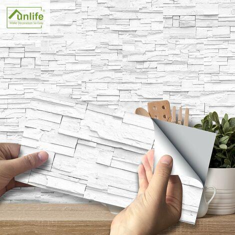 Pegatinas de renovacion de muebles de gabinete Funlife, pegatinas de azulejos de bano simples, pegatinas de suelo tridimensionales 3D