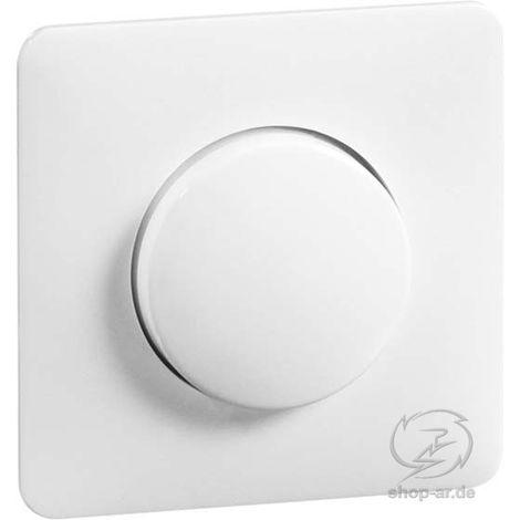 PEHA Secker reinweiß Zentral und Knopf für Dimmer 80.610.02 HR Zentralplatte