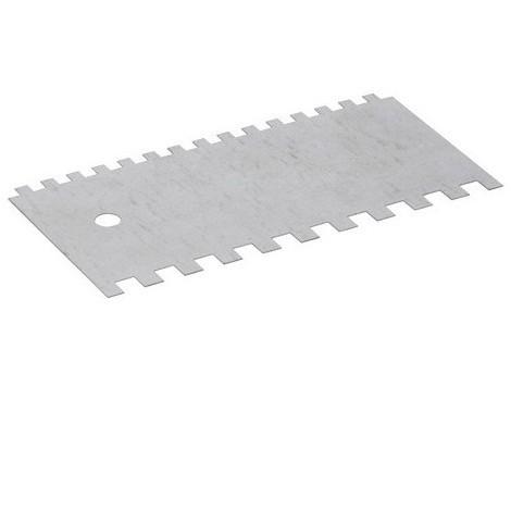 Peigne à colle 200 mm Denture U 2 faces 6 x 6 et 9 x 9 mm - 11200016 - Sidamo - -