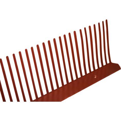 Peigne anti-moineaux en PVC (10ml) 80mm Rouge - Rouge