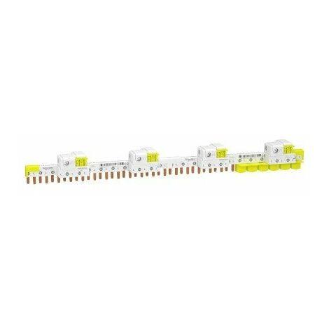 Peigne avec connecteurs intégrés - Raccordement horizontal Acti9 - 63A - 1P+N - 24 modules de 18mm
