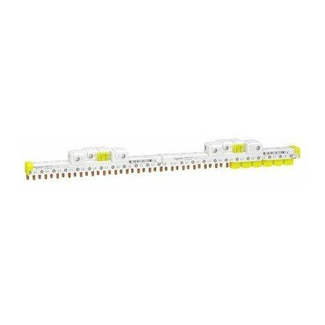 Peigne avec connecteurs intégrés - Raccordement horizontal Acti9 - 63A - 3P+N - 24 modules de 18mm