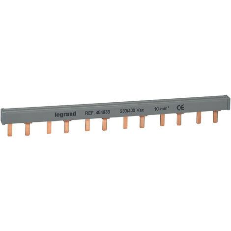 Peigne d'alimentation HX³ - 2P - pour bornes à vis - L. 1 rangée - 6 mod
